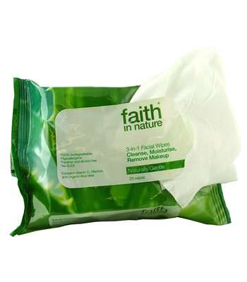 Faith in Nature 3-in-1 Facial Wipes, 25pk