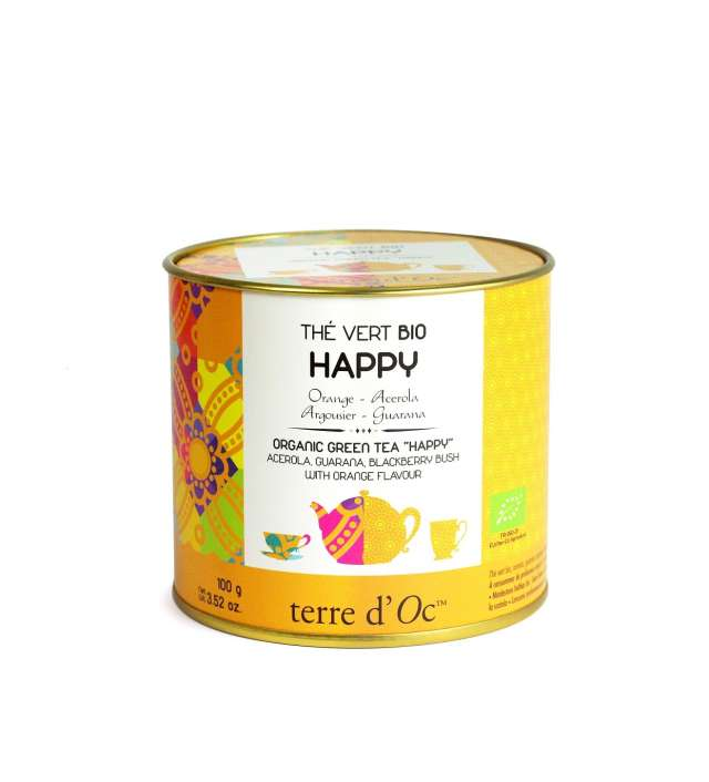 Terre d'Oc Organic HAPPY green tea 100g