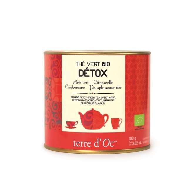 Terre d'Oc Organic DETOX green tea 100g