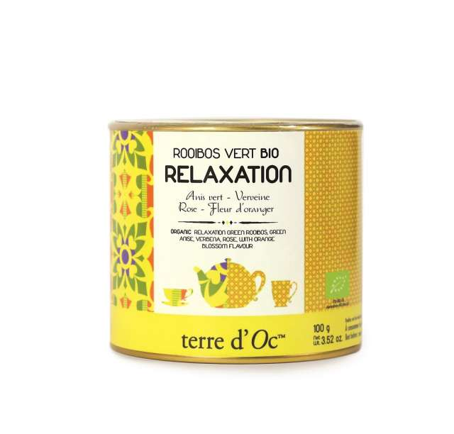 Terre d'Oc Organic RELAXATION green rooibos 100g