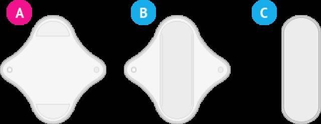 LadyPad - Pad and liner- hvit