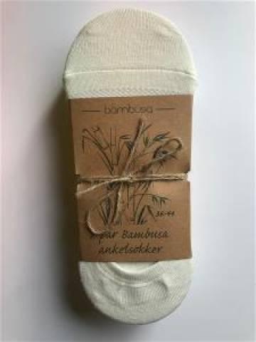 Bambusa Ankelsokk - naturhvit - 7pk