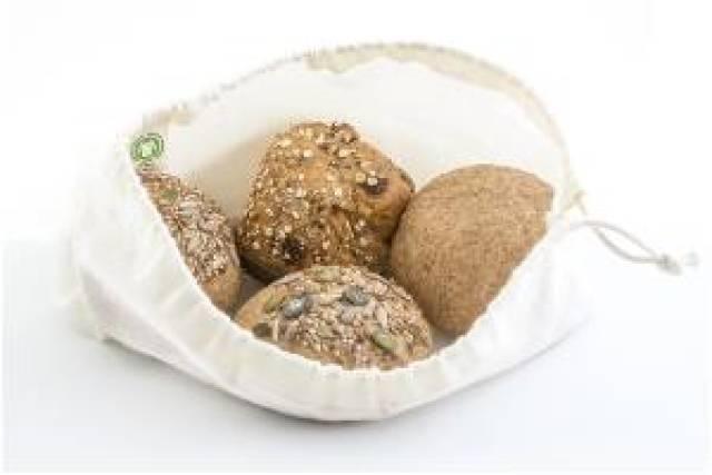 Brødpose i økologisk bomull - medium