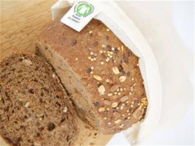 Brødpose i økologisk bomull - stor